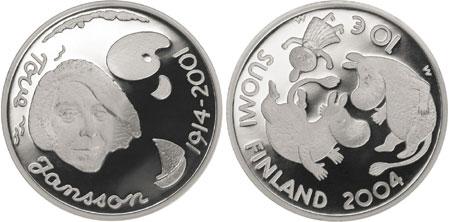 2004 Tove Jansson 10 Euro Silver coin