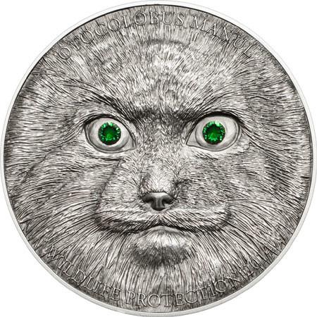 Mongolia 2014 Manul 500 Togrog Silver Coin