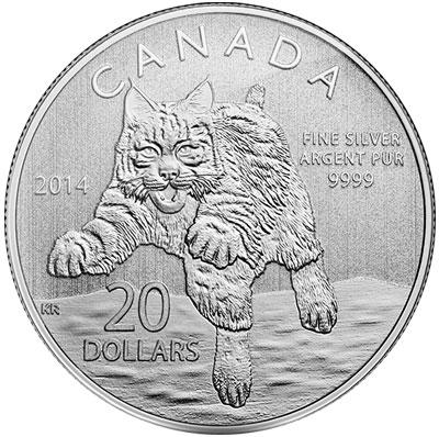 2014 Bobcat $20 Silver Coin