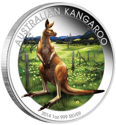 2014 Australian Kangaroo Silver coin