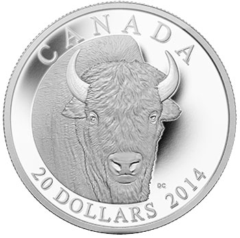 2014 Bison Portrait Silver Coin