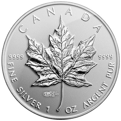 Silver Maple Leaf World Money Fair privy mark