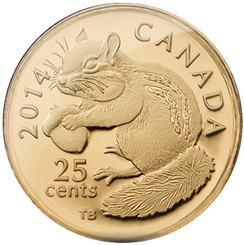 2014 Chipmunk Gold Coin