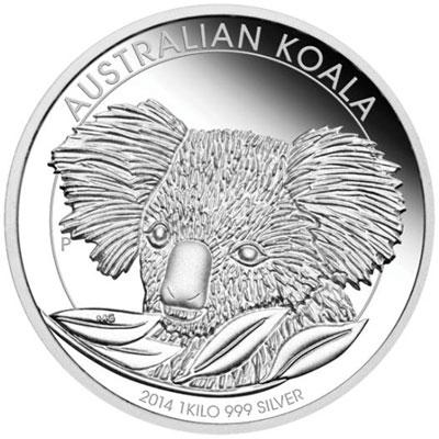 2014 Australian Koala 1 kilo Silver Proof Coin