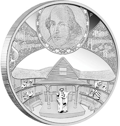 William Shakespeare 450th Anniversary Silver Coin
