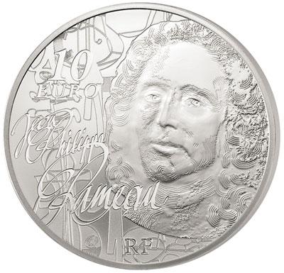 Jean-Philippe Rameau Silver Coin