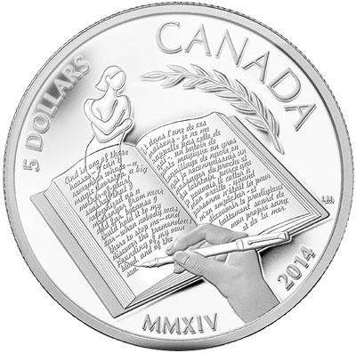 Alice Munro Canadian Silver Coin
