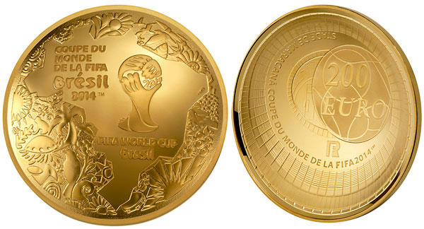 France 2014 FIFA World Cup Domed Gold Coin