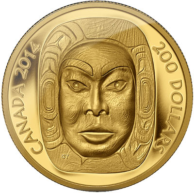 2014 Matriarch Moon Mask Ultra High Relief Coin