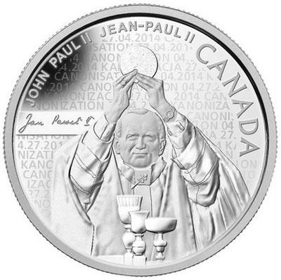 Canada 2014 Pope John Paul II Silver Coin