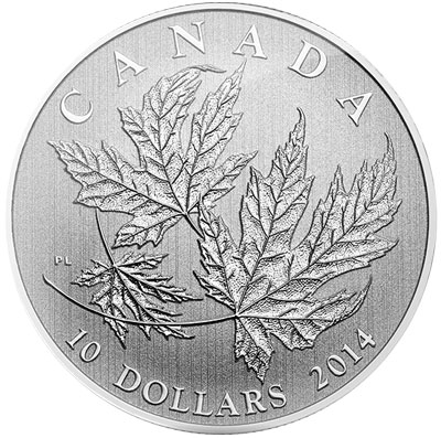 2014 Silver Maple Leaves 1/2 oz Silver Coin