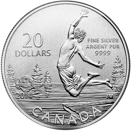 2014 Sumertime $20 Silver Coin