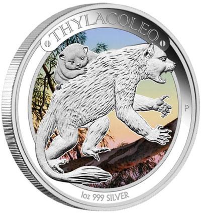 Thylacoleo Silver Coin