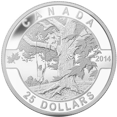 Down by the Maple Silver Coin
