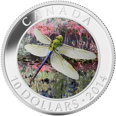 Green Darner Dragonfly Silver Coin