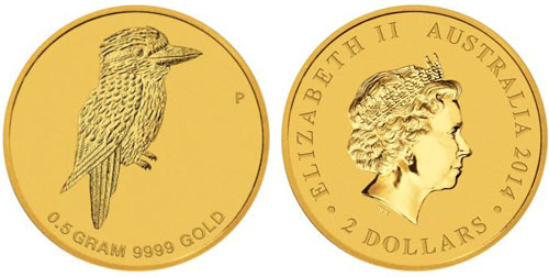 Kookaburra Half Gram Gold Coin