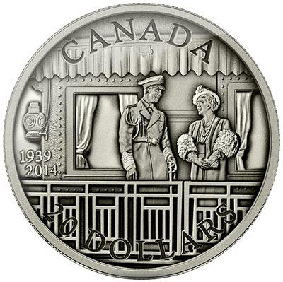Royal Visit Antique Finish Coin