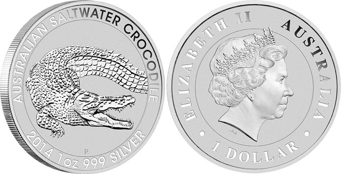 Saltwater Crocodile Silver Bullion Coin