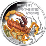 2014 Spider Hunting Scorpion Silver Coin