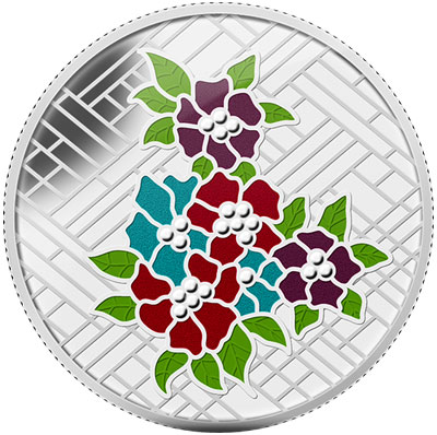 Stained Glass Silver Coin
