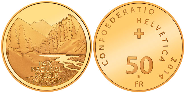 Swiss National Park Gold Coin