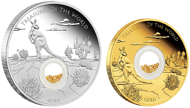 Treasures of the World Gold Proof Locket Coin