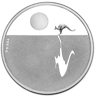 2014 Kangaroo at Sunset Silver Coin