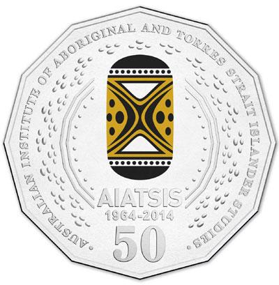 2014 AIATSIS 50 Cent Coin