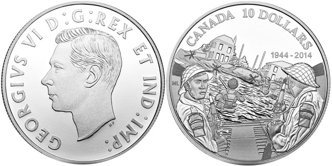2014 Canada 70th Anniversary D-Day Silver Coin