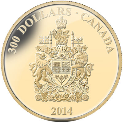 Canada Coat of Arms Gold Coin