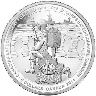 2014 Canadian Expeditionary Force Silver Coin