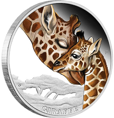 Mother's Love Giraffe Silver coin