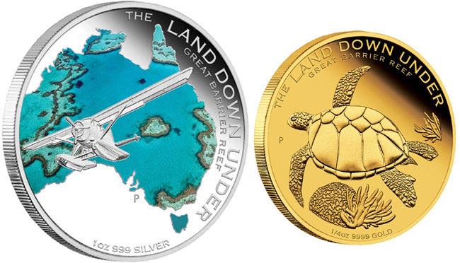 Land Down Under Great Barrier Reef Coins