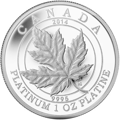 2014 Platinum Maple Leaf Forever Coin