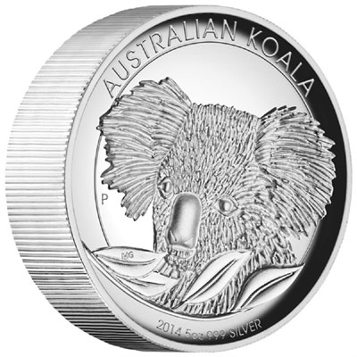 2014 Australian Koala Silver Proof High Relief Coin