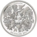 2014 Towering Forests $200 Silver Coin