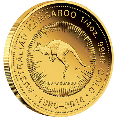 25th Anniversary Gold Kangaroo Coin