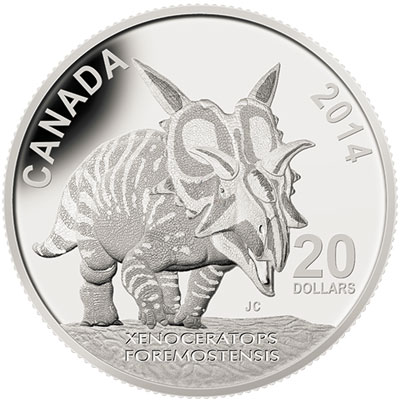 2014 Xenoceratops Foremostensis Silver Coin