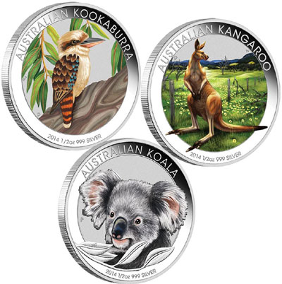 Australian Outback Silver Colored Coin Collection