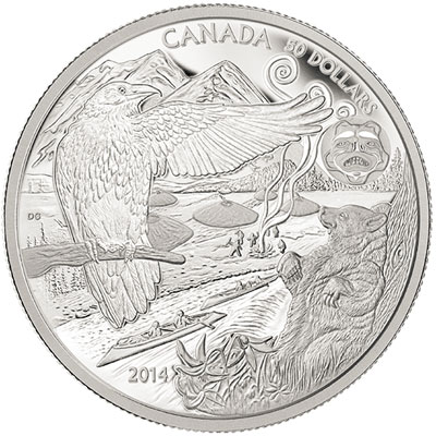 Legend of the Spirit Bear Silver Coin