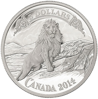 Lion and Mountain Canadian Banknote Series Silver Coin