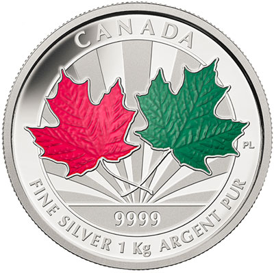 2014 Maple Leaf Forever One Kilogram Silver Coin