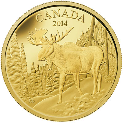 2014 Majestic Moose Gold coin