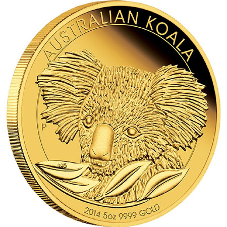 Australian Koala 2014 5oz Gold Proof Coin