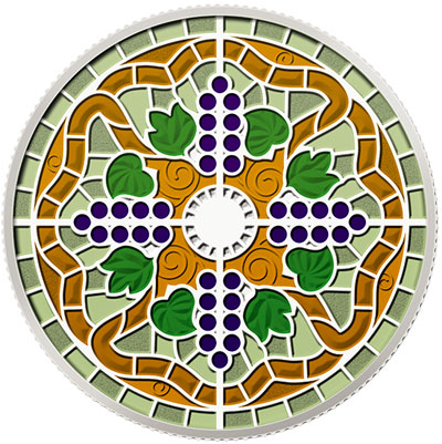 2014 Casa Loma Stained Glass Window Coin