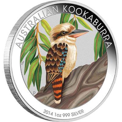 2014 Australian Silver Kookaburra Colored Coin