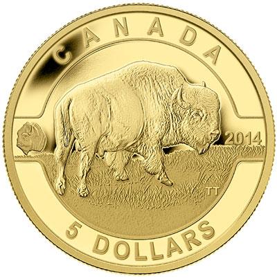 2014 O Canada Gold Buffalo Coin