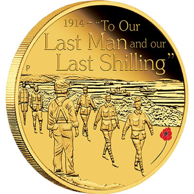 To Our Last Man 2014 1/4oz Gold Proof Coin