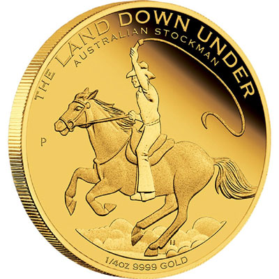 Australian Stockman 1/4oz Gold Proof Coin