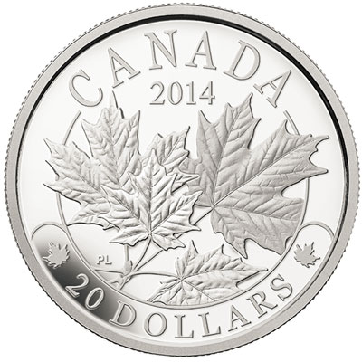 2014 Majestic Maple Leaves Silver Coin